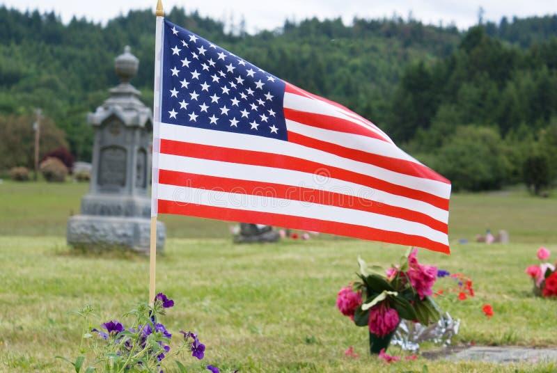 De herdenkings Vlag van de Dag stock foto's
