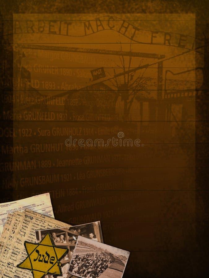 De HerdenkingsAchtergrond van de holocaust stock illustratie