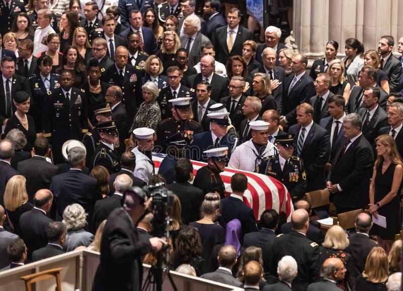 De herdenkingsdienst van U S Senator John McCain stock foto