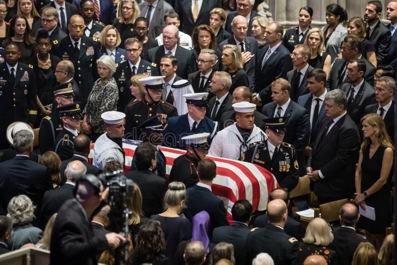 De herdenkingsdienst van U S Senator John McCain royalty-vrije stock foto's
