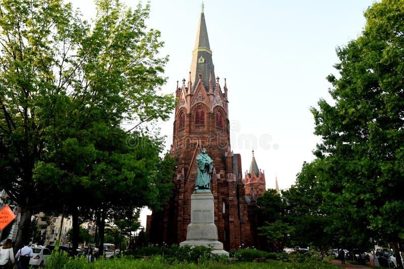 De herdenkingskerk van de Lutherplaats in Washignton gelijkstroom de V.S. royalty-vrije stock foto