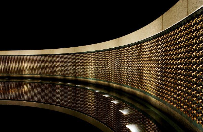De HerdenkingsSter Wal van de Wereldoorlog II stock afbeelding