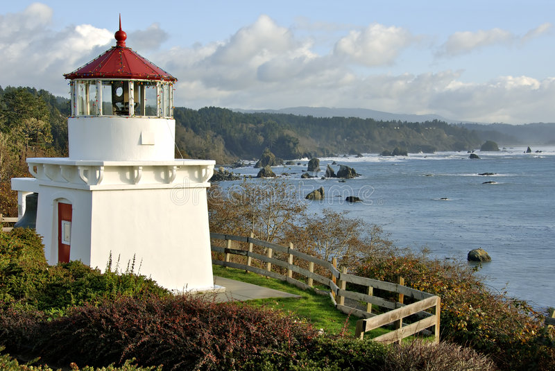 De HerdenkingsVuurtoren van Trinidad in Noordelijke Californi royalty-vrije stock foto