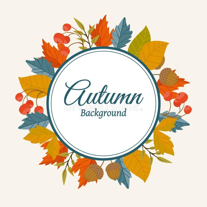 De herfst achtergrondroosterillustratie stock illustratie
