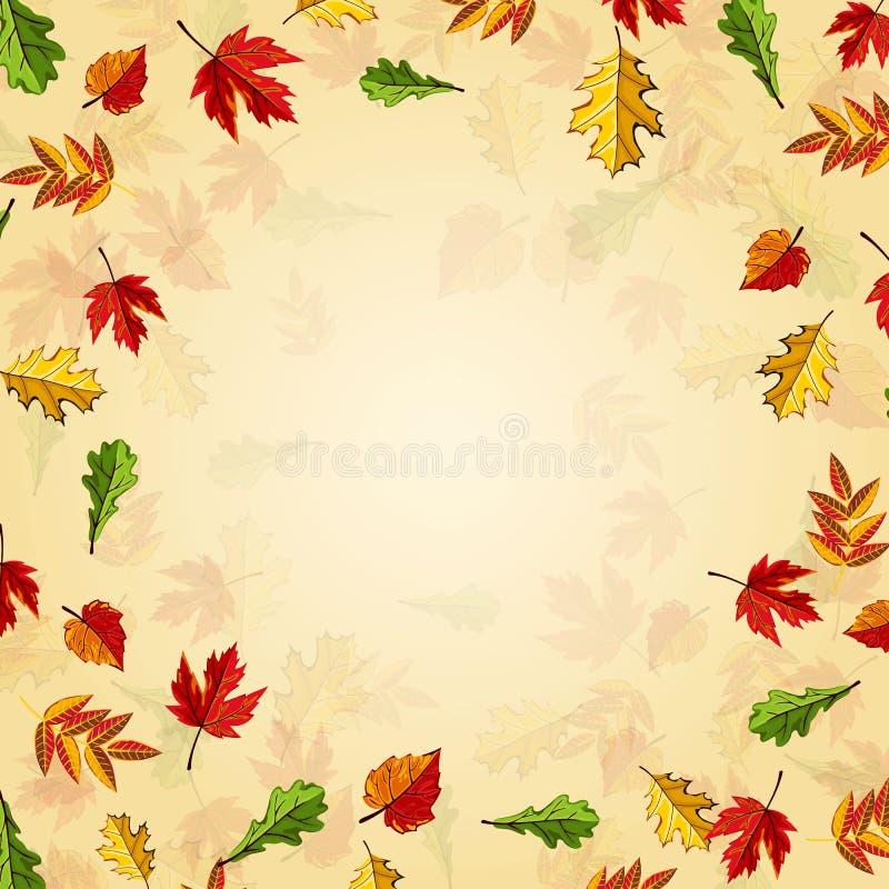 De herfst achtergrondroosterillustratie vector illustratie