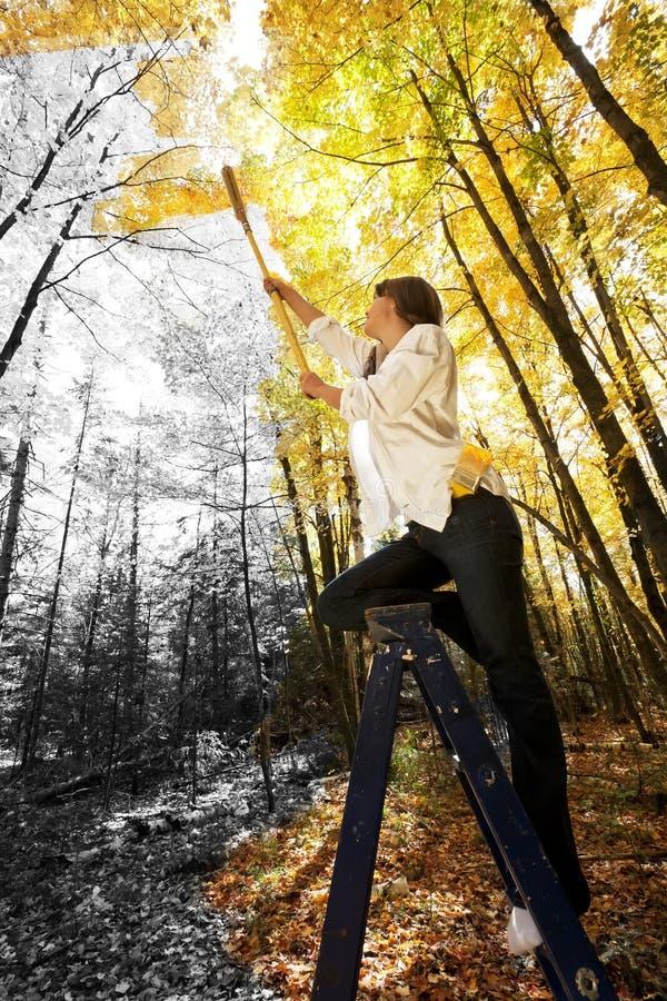 De herfst Acrylics stock afbeeldingen