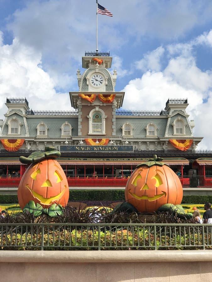 De herfst bij het Magische Koninkrijk, Walt Disney World royalty-vrije stock fotografie