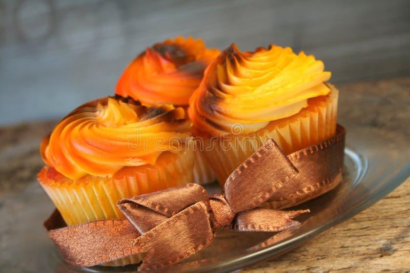 De herfst Cupcakes stock afbeelding