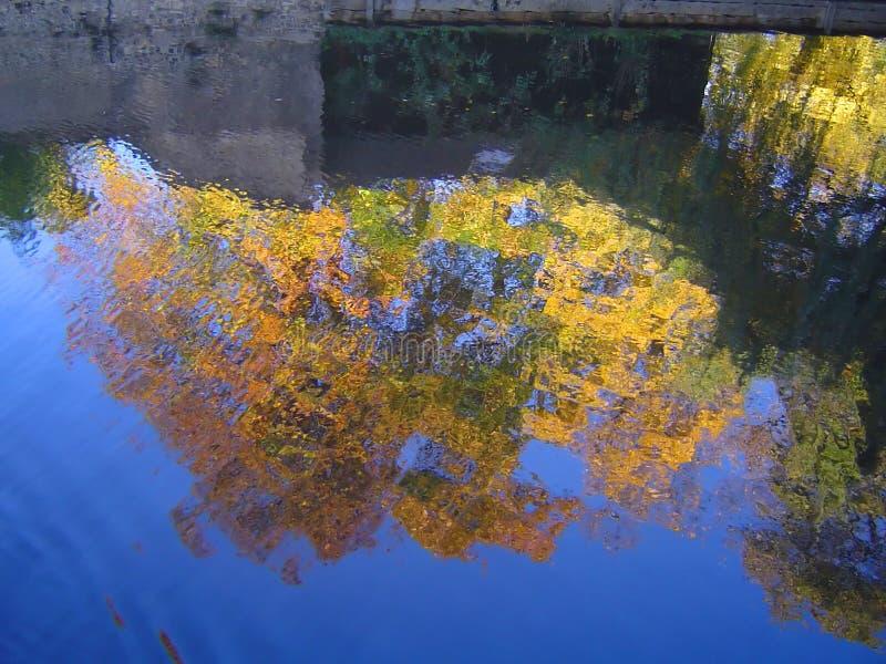 De herfst/daling van Cambridge stock afbeelding