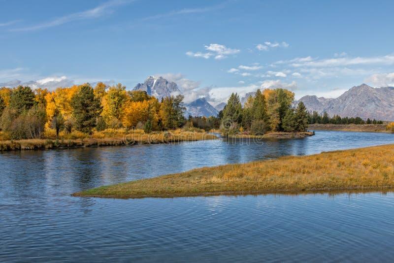 De herfst in de Rivier van Tetons en van de Slang stock afbeeldingen