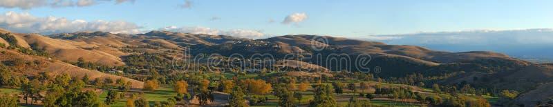 De herfst in de vallei. Californië. Panorama (#29) stock foto's