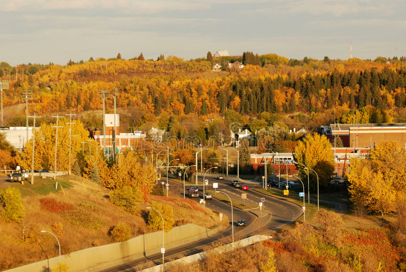 De herfst Edmonton royalty-vrije stock foto