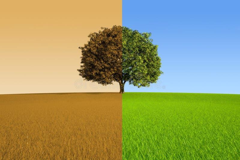 De herfst en de Lente vector illustratie