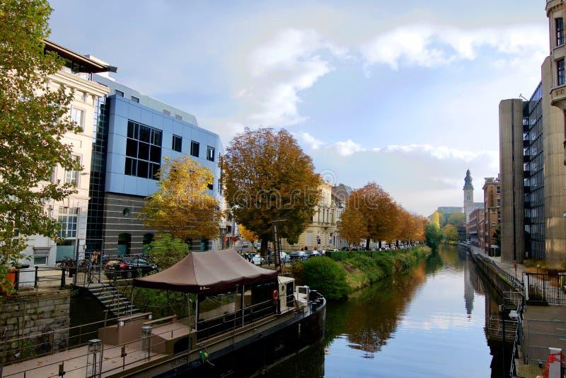 De herfst in Gand stock fotografie