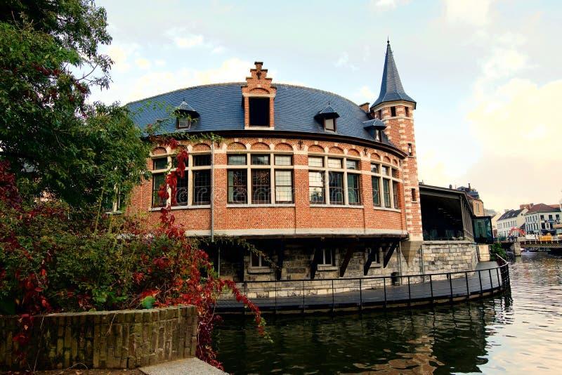 De herfst in Gand royalty-vrije stock foto