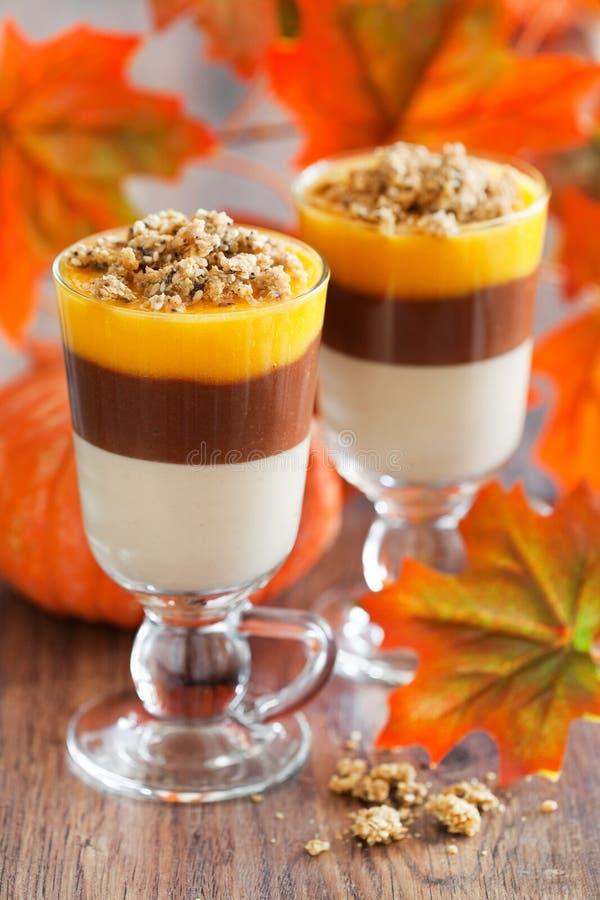 De herfst gelaagd dessert royalty-vrije stock foto