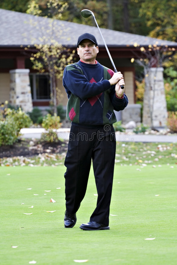 De herfst Golfing stock afbeeldingen