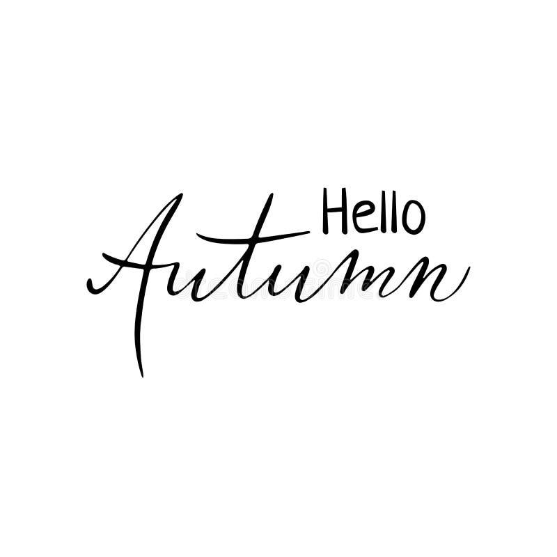 De herfst hand het getrokken van letters voorzien voor affiche, banner, embleem, pictogram voor seizoengebonden gebeurtenis, verk royalty-vrije illustratie