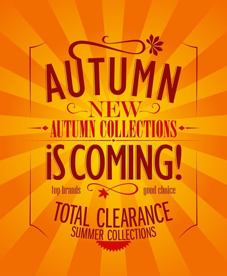 De herfst is komend ontwerp. stock illustratie