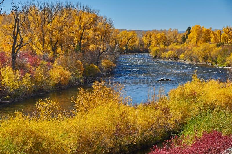 De herfst langs Pas Kebler stock foto's