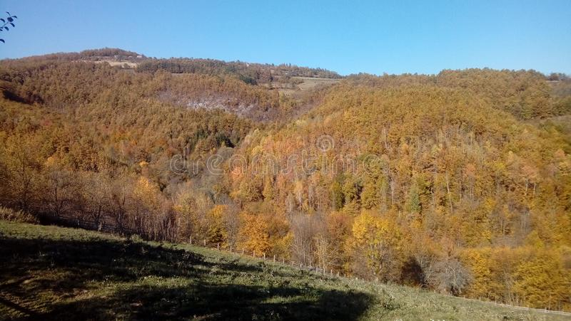 De herfst in mijn dorp royalty-vrije stock fotografie