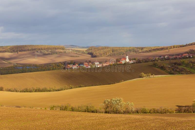De herfst in Moravië royalty-vrije stock foto's