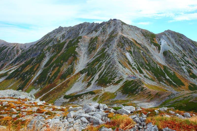 De herfst Mt.Tateyama stock afbeelding