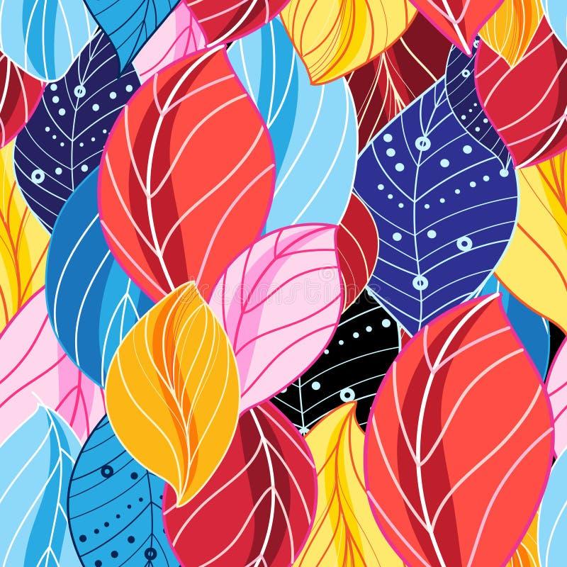 De herfst multicolored patroon royalty-vrije illustratie