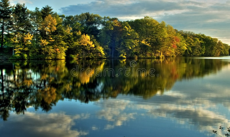 De herfst in New England stock fotografie