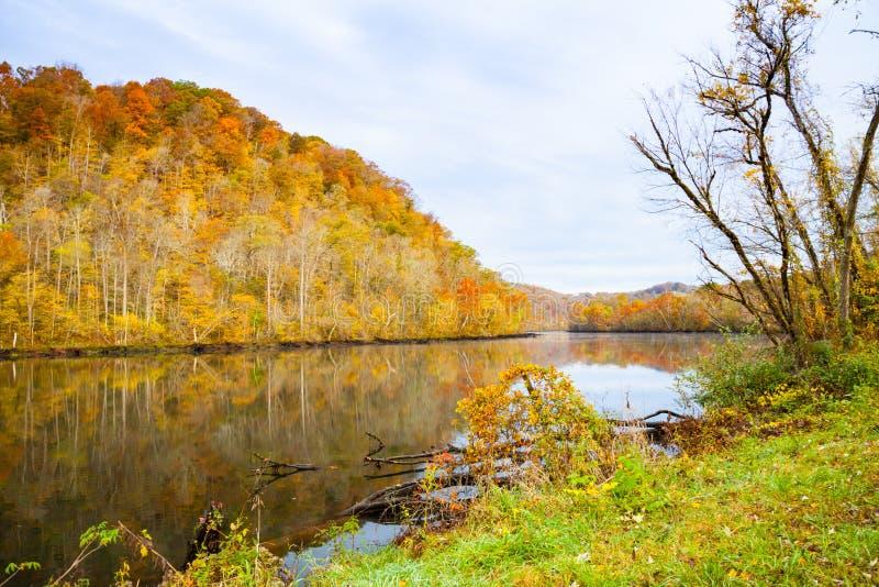 De herfst in Norris Dam State Park stock fotografie