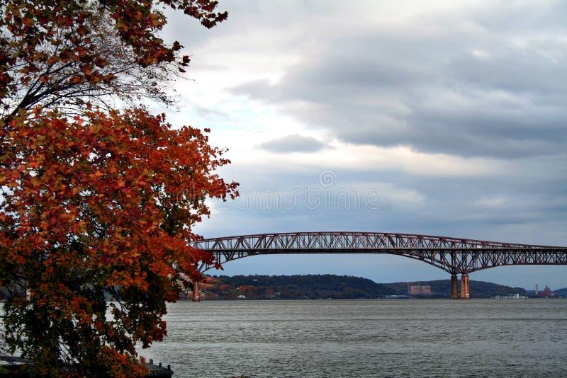 De herfst op Hudson stock foto's