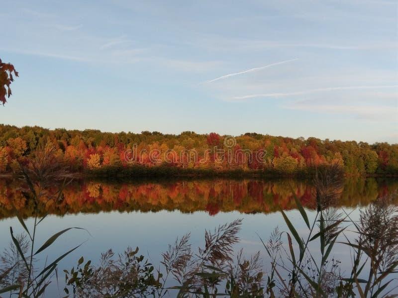 De herfst op Meer McCormack royalty-vrije stock foto