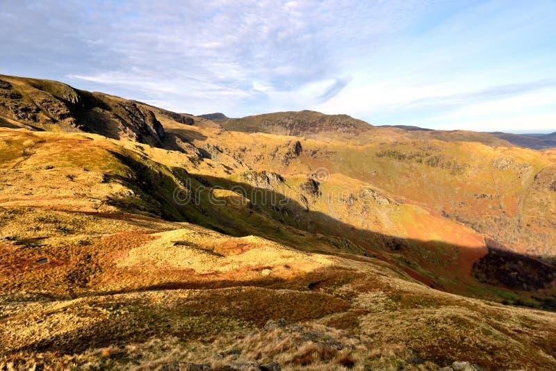 De herfst op Weinig Hart Crag stock foto