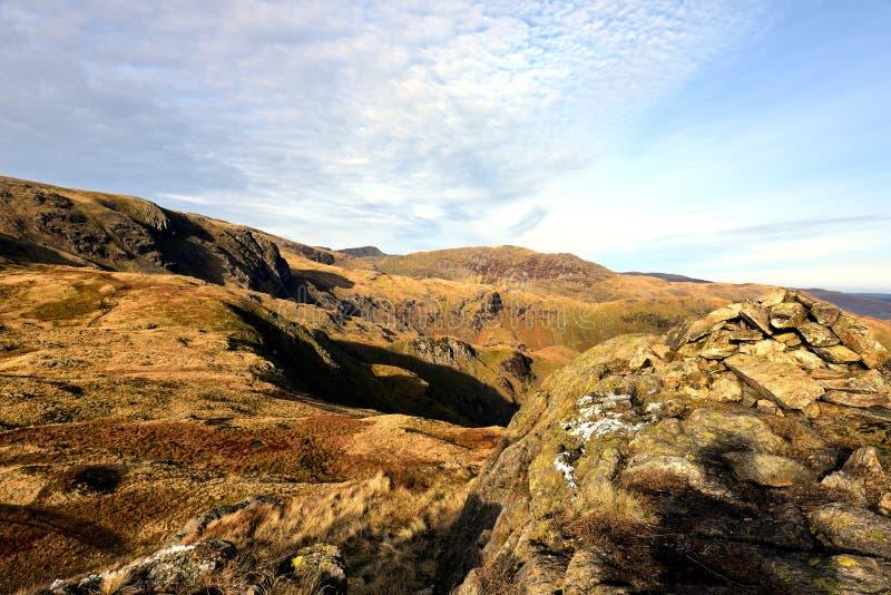 De herfst op Weinig Hart Crag stock afbeeldingen