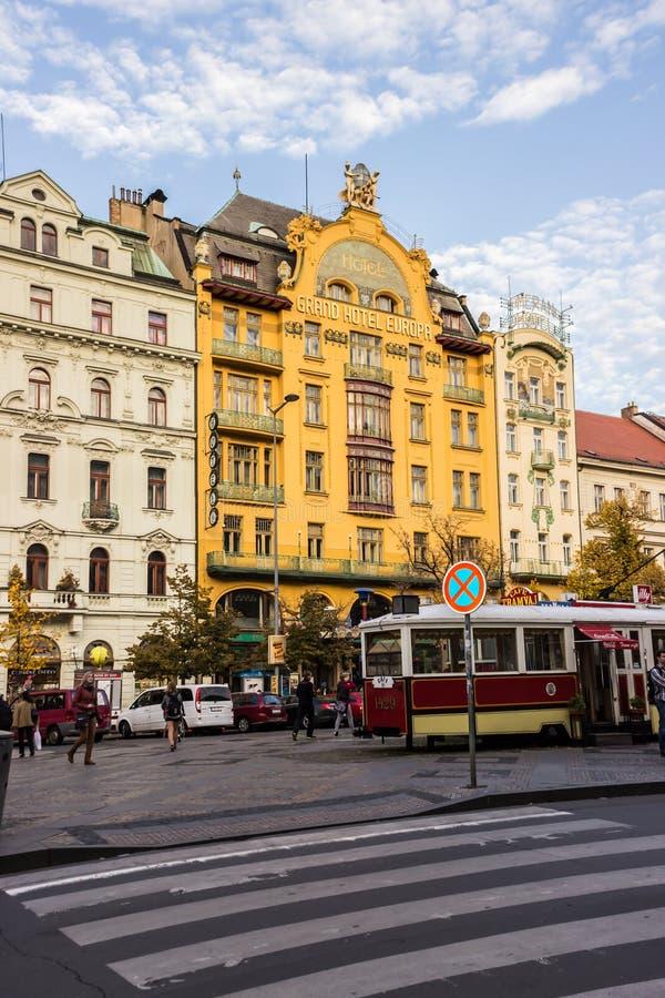 De herfst in Praag, Tsjechische Republiek, Europa royalty-vrije stock fotografie