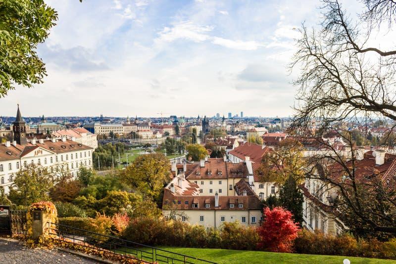 De herfst in Praag, Tsjechische Republiek, Europa stock foto's