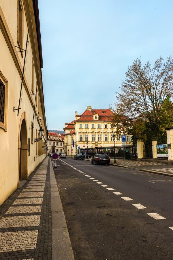 De herfst in Praag, Tsjechische Republiek, Europa stock foto