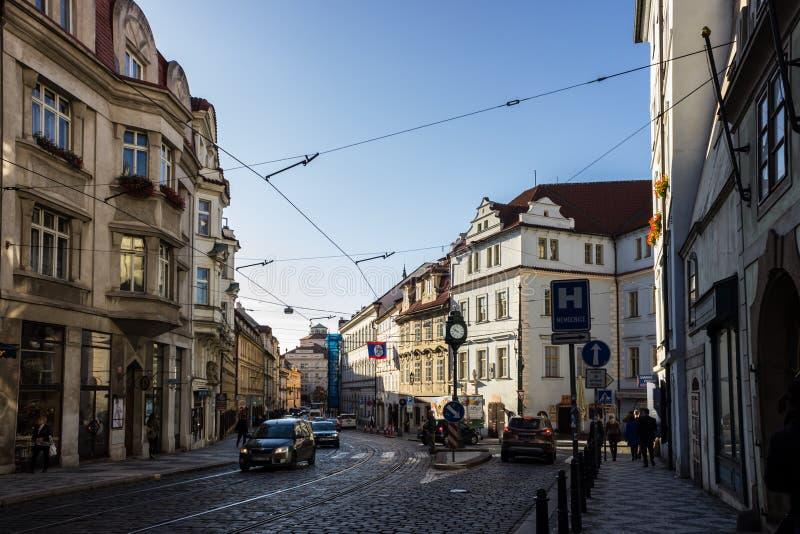 De herfst in Praag, Tsjechische Republiek, Europa stock fotografie