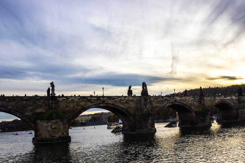 De herfst in Praag, Tsjechische Republiek, Europa royalty-vrije stock afbeelding