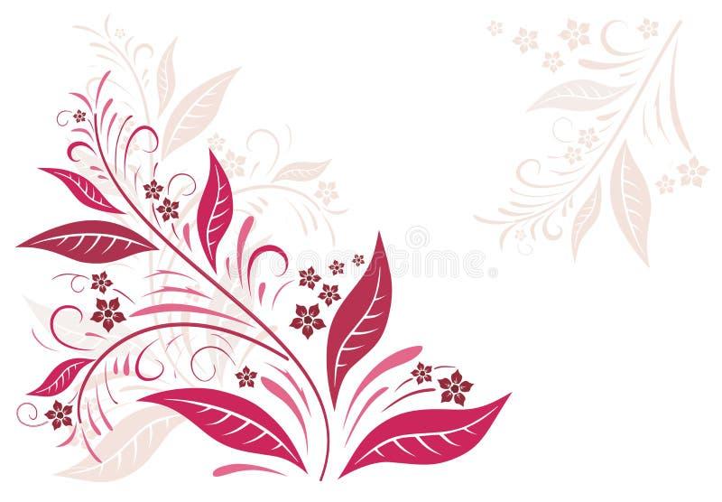 De herfst in rood stock illustratie