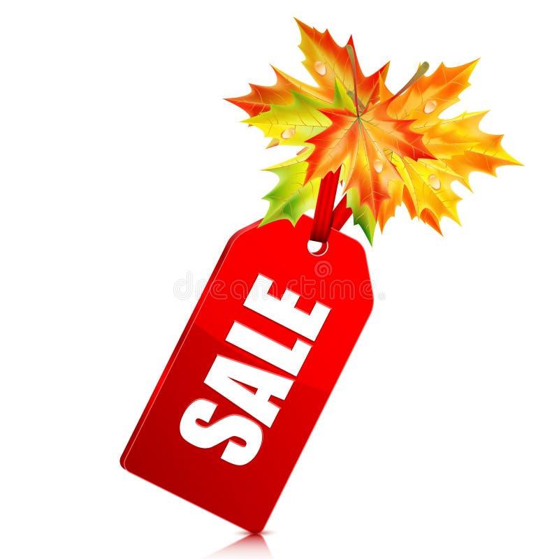 De herfst seizoengebonden verkoop vector illustratie