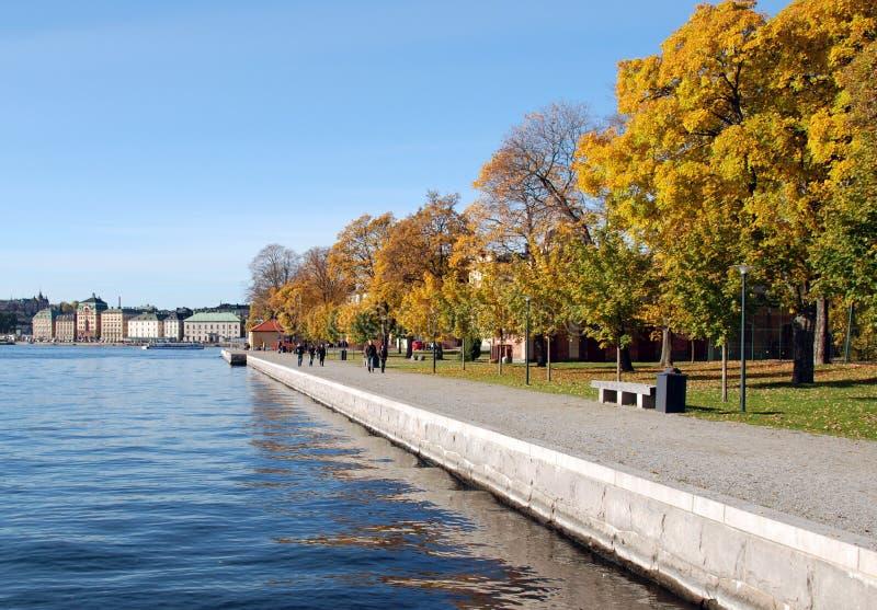 De herfst in Stockholm stock afbeeldingen
