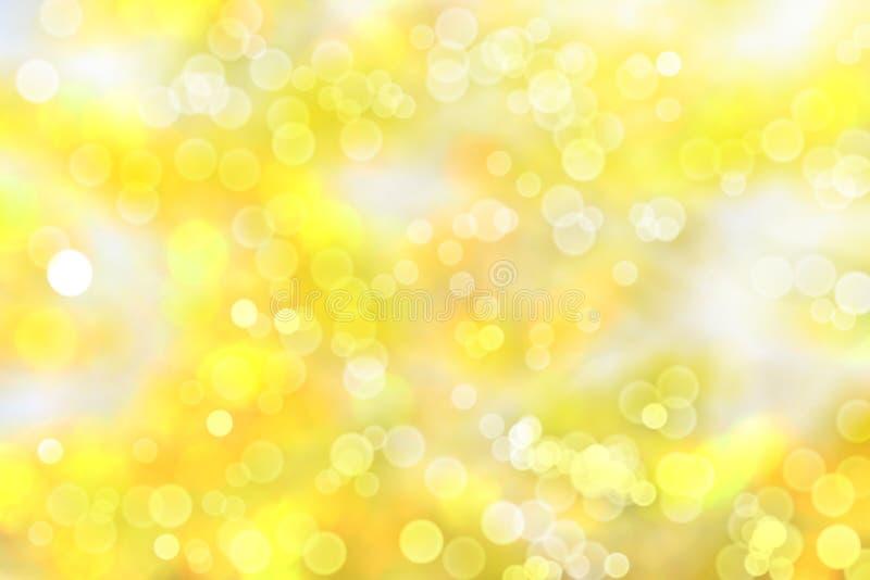 De herfst vage gele bokeh als achtergrond royalty-vrije stock afbeelding