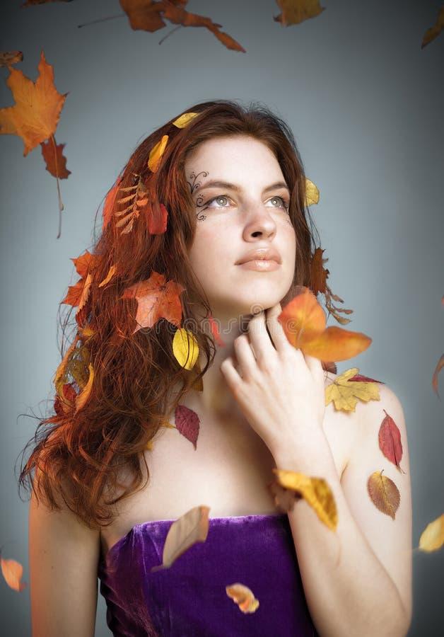 De herfst van de fee royalty-vrije stock afbeeldingen