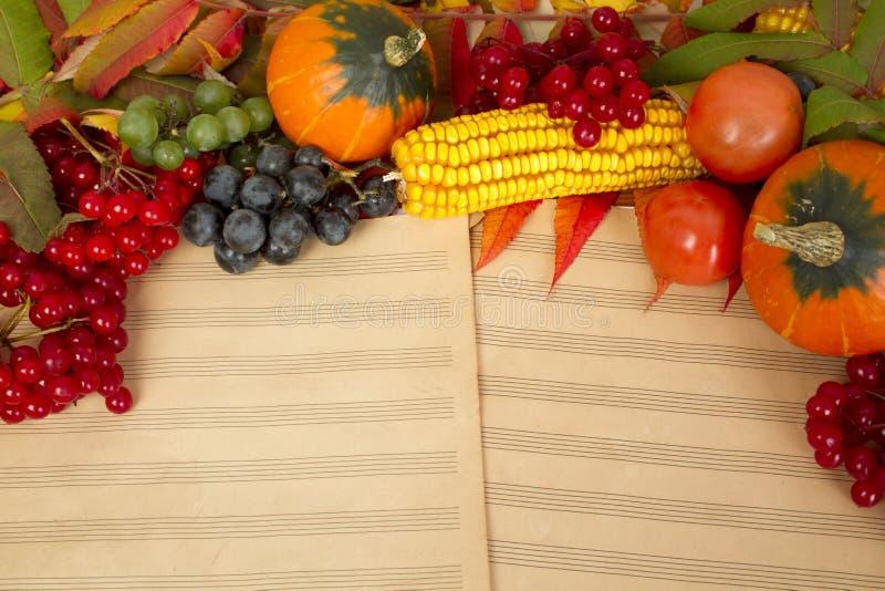 De herfst van de muziek royalty-vrije stock afbeeldingen