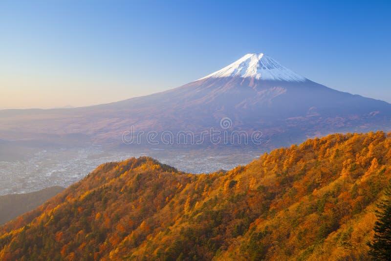 De herfst van Mt fuji royalty-vrije stock afbeeldingen