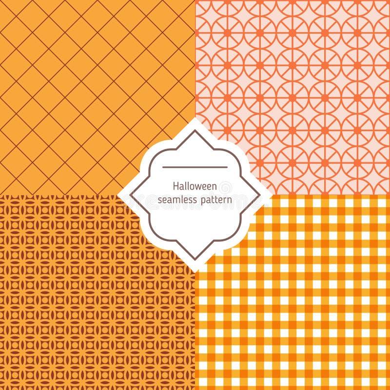 De herfst vector naadloze patronen vector illustratie