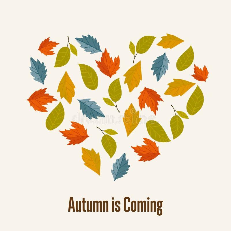 De herfst vectorillustratie als achtergrond royalty-vrije illustratie