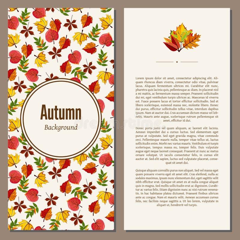 De herfst vectorillustratie als achtergrond vector illustratie