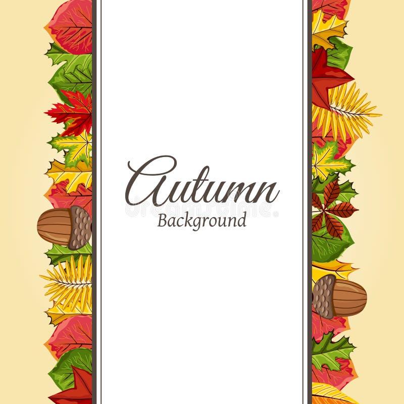 De herfst vectorillustratie als achtergrond stock illustratie